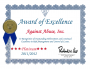 Award of Excellence for Against Abuse, Inc.